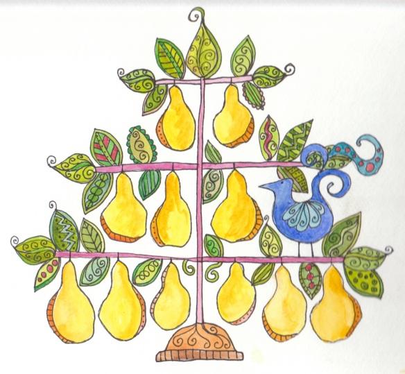 Day 16  Bluebird in a Pear Tree