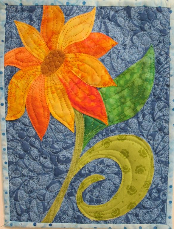 Sunflower Art Quilt