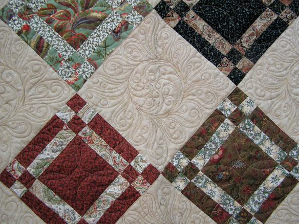 Here's a close up of the quilting.