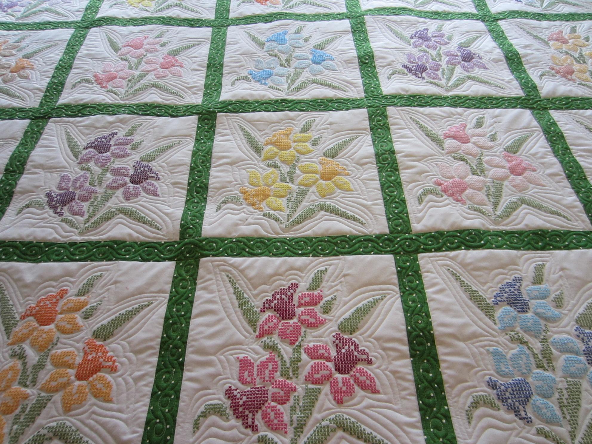 Cross Stitch Quilt Patterns : Cross Stitch Quilt pamelajeannestudio