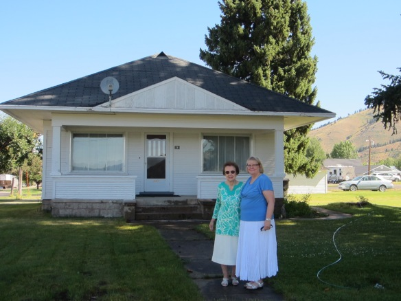My mom (Ada Jeanne Michaelson Griffiths) and I in front of Aunt Lydia's house in Afton, Wyoming.