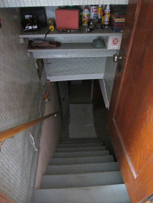Scary basement stairs