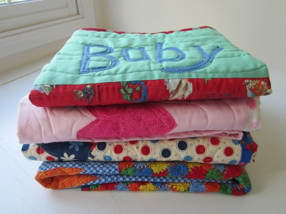 baby quilt stack for charity