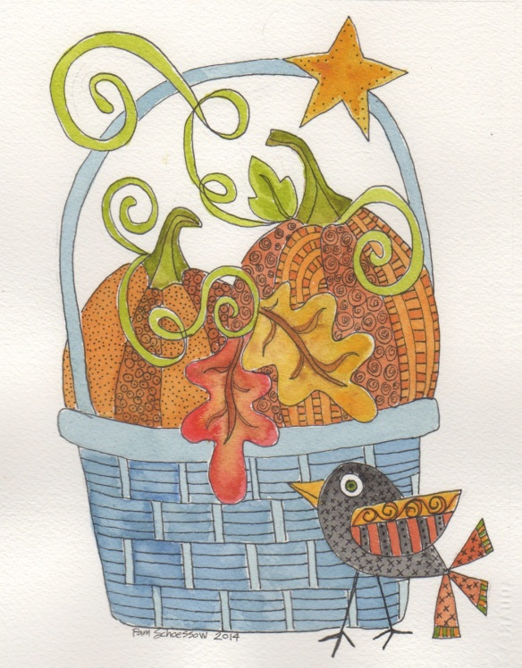 Basket o' Pumpkins