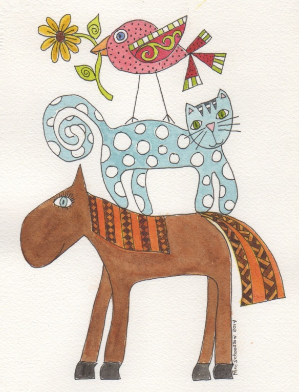 Ms. Horse Polka Dot Friends