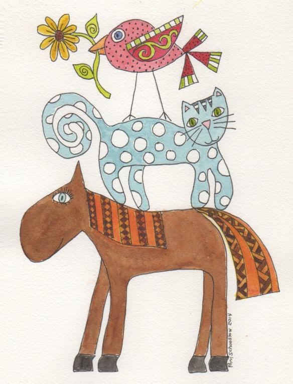 Ms. Horse Polka Dot Friends