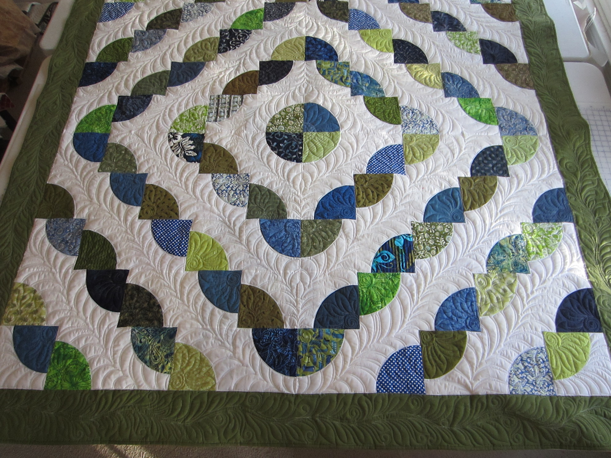 Quilting Template Drunkard S Path : Another Drunkards Path Quilt pamelajeannestudio