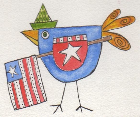 Patriotic Bird
