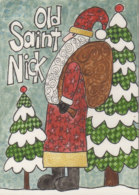 Old Saint Nick by Pam Schoessow