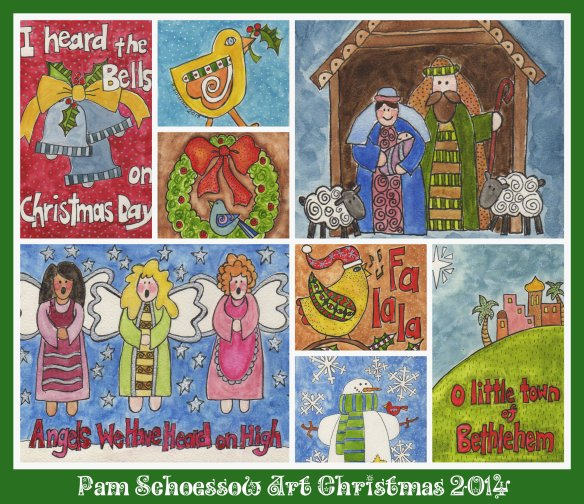 Pam's Christmas Art 2014