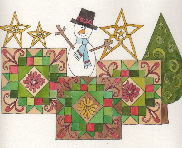 Winter Quilt Blocks