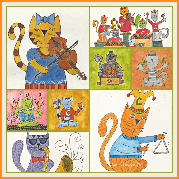 Just Cats Collage by Pam Schoessow