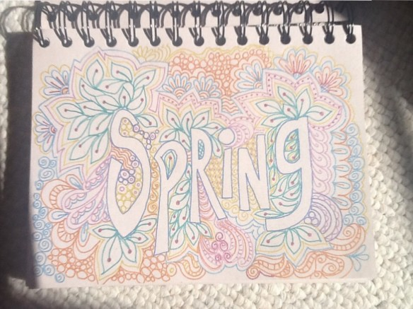 Spring Doodle by Pam Schoeesow