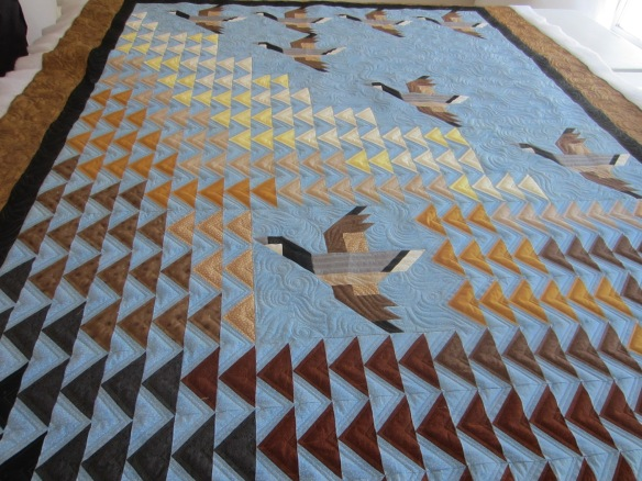 Large Flying Geese Quilt