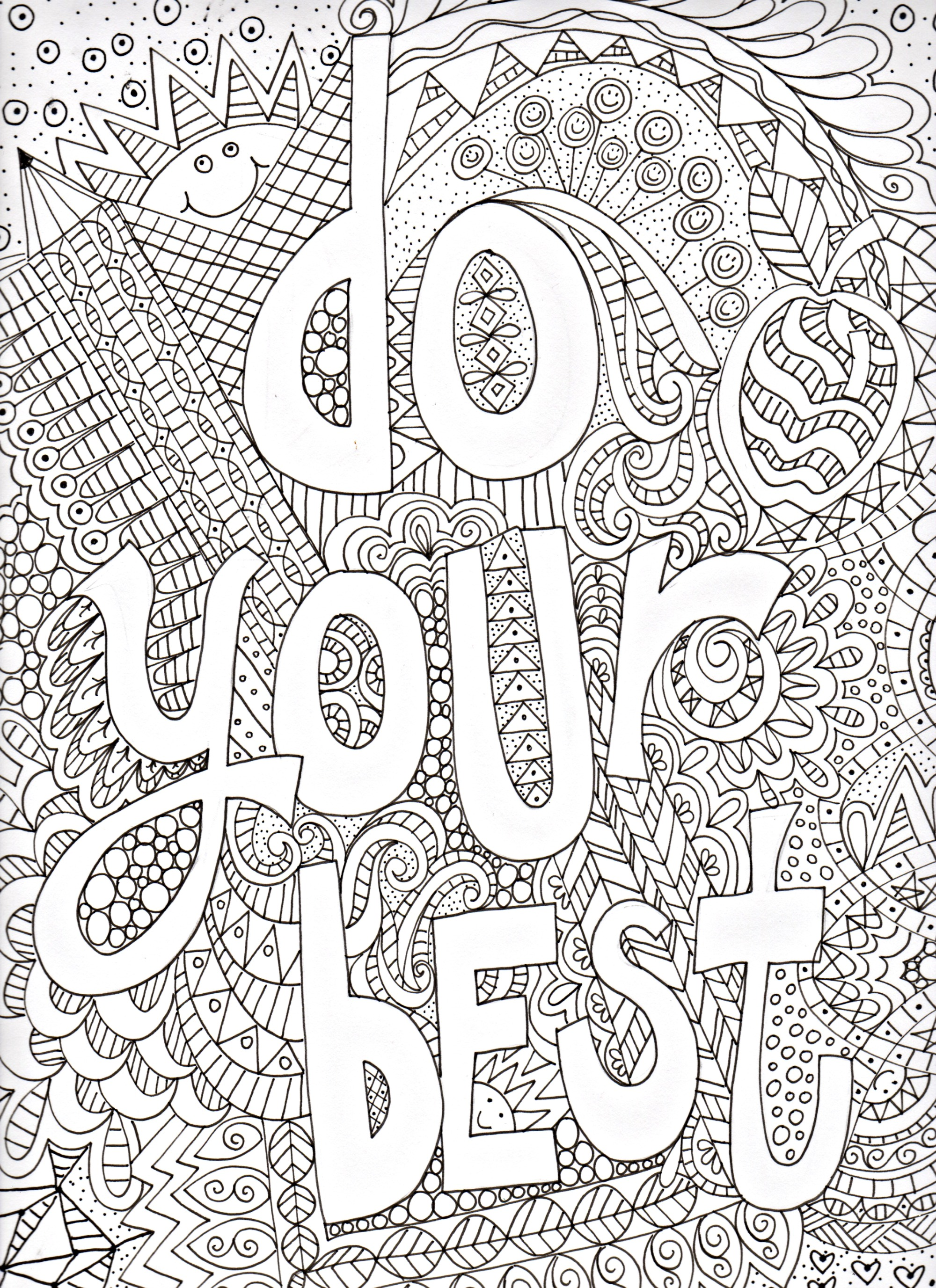 Motivational Poster to Color | pamelajeannestudio
