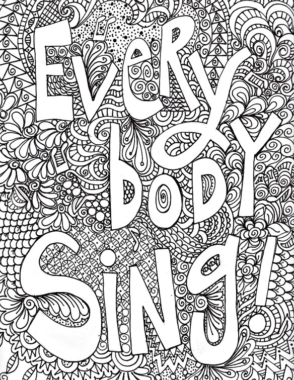 Fun printable to color.  Who doesn't like to sing?