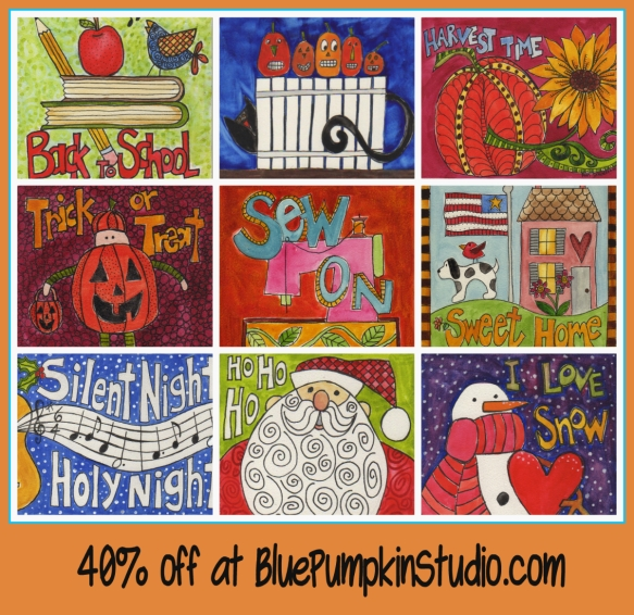 10 Day sale at BluePumpkinStudio.com by Pam Schoessow