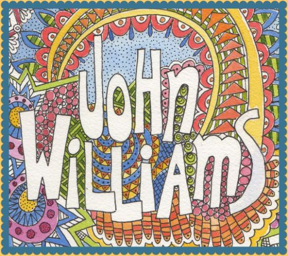 John Williams color doodle by Pam Schoessow