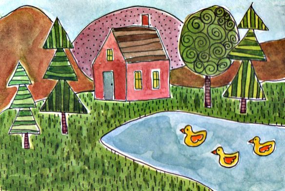 Three Ducks by Pam Schoessow