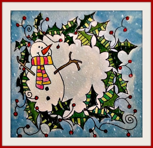 snowman in wreath