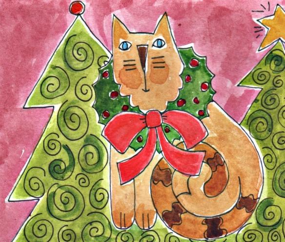 Wreath on Cat